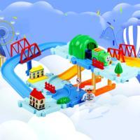 轨道车益智玩具百变托马斯DIY组合拼装玩具3C认证厂家直供