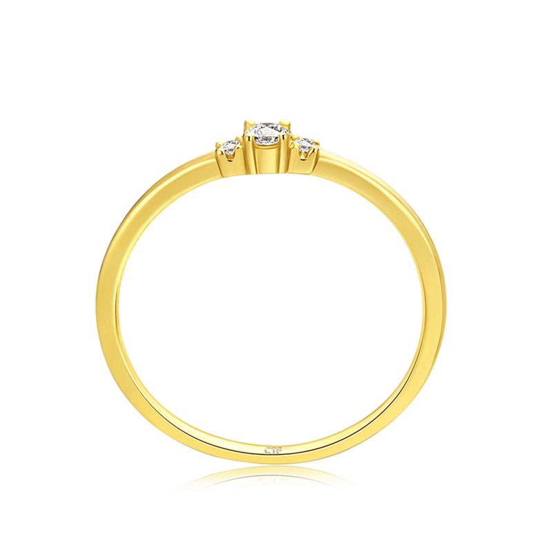 Ringism系列浪漫之恋18K金钻石戒指