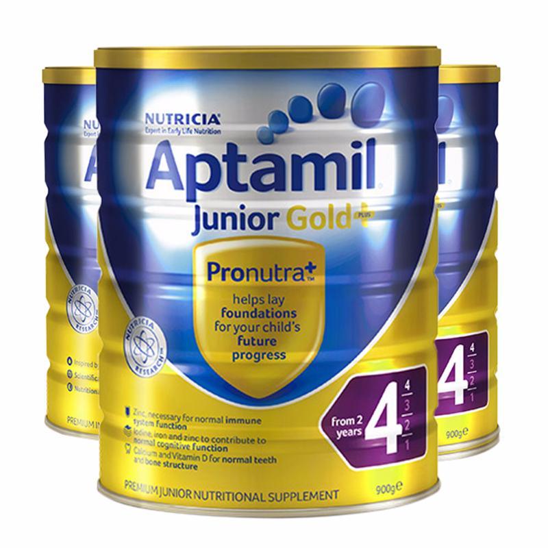 【3罐装】【澳洲直邮|包税包邮】 Aptamil Gold爱他美 金装版 4段