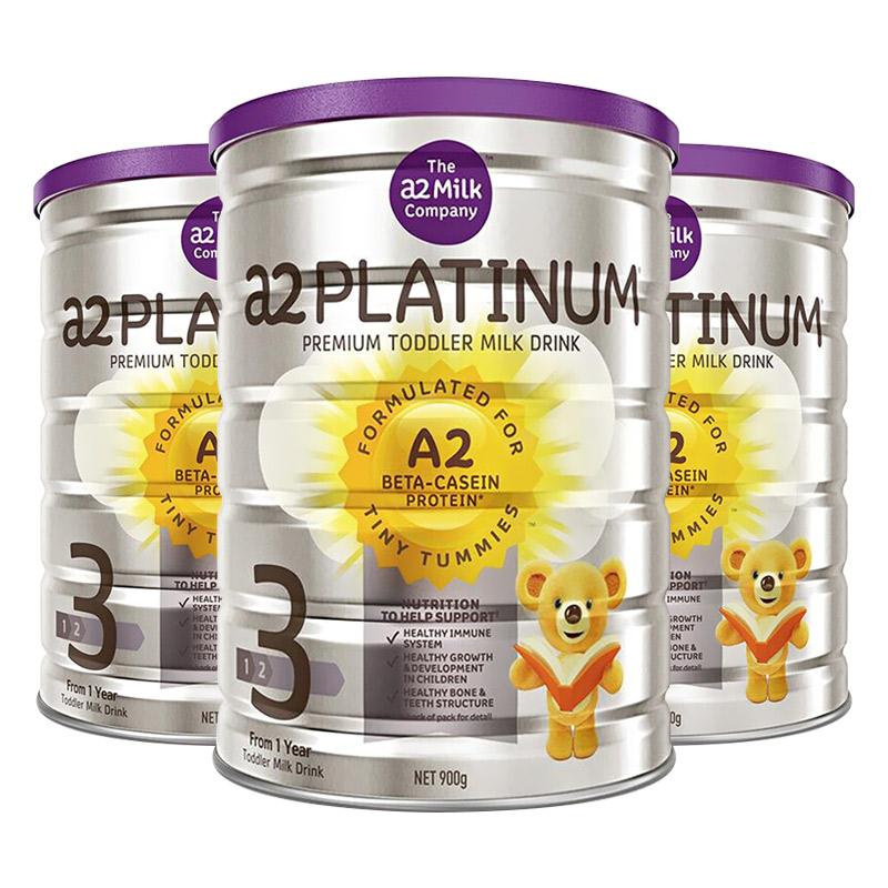 【3罐装】【澳洲直邮|包税包邮】A2白金系列婴幼儿奶粉3段