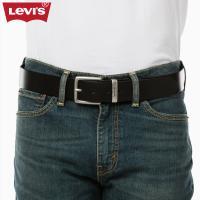 Levi's李维斯男士黑色牛皮革针扣腰带38016-0047