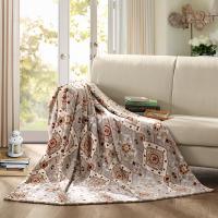 罗莱加州风情毯(产品规格:180x200cm ; 产品成分:超柔法兰绒(聚酯纤维); 产品克重:1000g )
