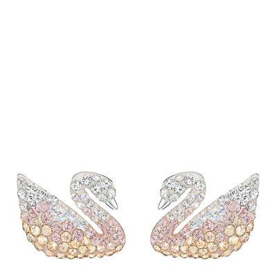 【香港直邮】Swarovski 施华洛世奇 渐变色仿水晶女士天鹅珍珠耳钉 5215037