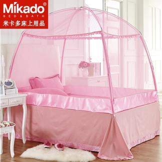米卡多蚊帐蒙古包1.8m床1.5双人家用加密加厚三开门1.2米床单人学生宿舍