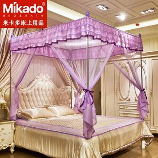 米卡多蚊帐三开门拉链坐床式1.8m床蒙古包方顶双人1.5m家用1.2米床蚊帐88163