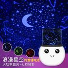 新品雪人投影灯 卡通USB充电浪漫星空灯 安睡LED小夜灯