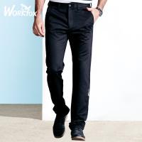 哈雷纳金狐狸 春季青年男士新款商务休闲纯色直筒休闲裤子553071851