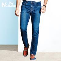 哈雷纳金狐狸 2018春季青年男士新款直筒中腰时尚牛仔裤653772888