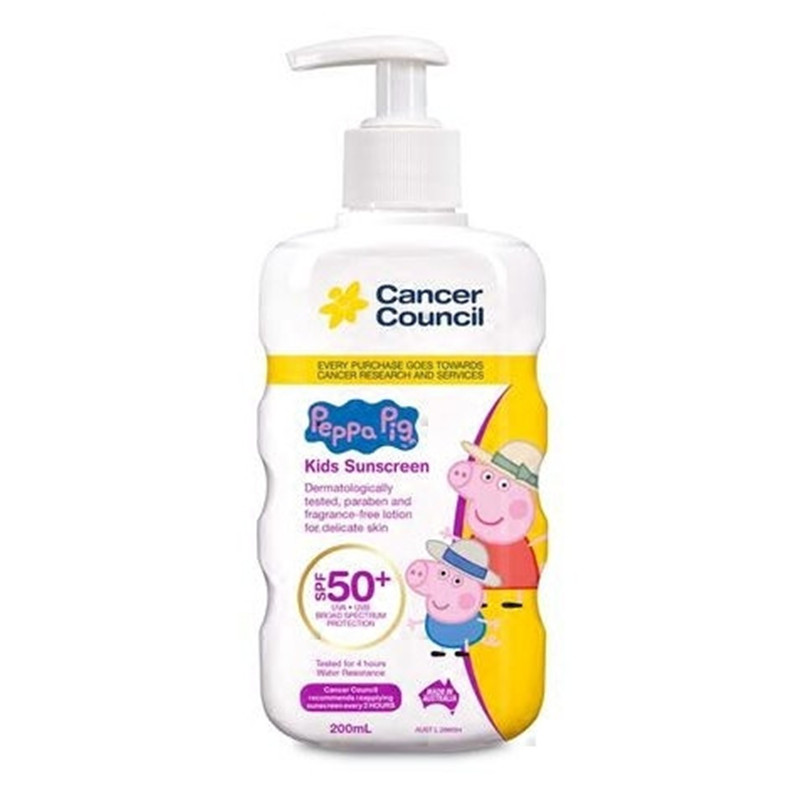 Cancer Council茜茜尔小猪佩奇儿童防晒霜SPF50+ 200ml