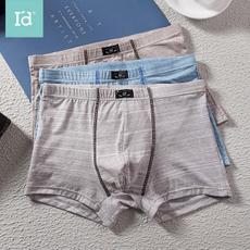 I'd爱帝男式内裤平角裤纯棉三条装宽松透气夏季中低腰平角四角短裤头