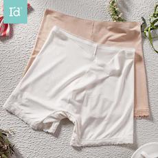 I'd爱帝打底肉色安全裤防走光女夏季冰丝中腰薄款提臀平角安全内裤2条组合装