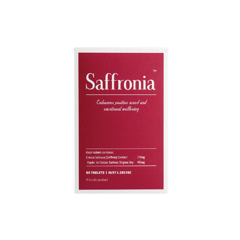 【潘粤明推荐】Unichi Saffronia素颜丸藏红花好睡眠减压疲劳60粒