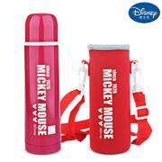 【包邮】迪士尼Disney-字母粉不锈钢保温杯500毫升男女暖水壶瓶