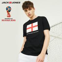 JackJones杰克琼斯 世界杯官方授权FIFA新品英格兰男夏运动短袖T恤 218301548