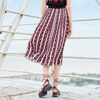 百褶裙2018新款裙子韩版女夏短裙百搭港味半身裙高腰显瘦a字裙10018436【夏款】