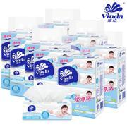 【包邮】Vinda维达 @舒柔抽纸8组32包共3200抽厚3层自然无香妇婴宝宝适用绵柔细腻餐面巾卫生纸巾