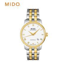 MIDO 瑞士美度贝伦赛丽男表间金色钢带商务机械手表 M8600.9.26.1