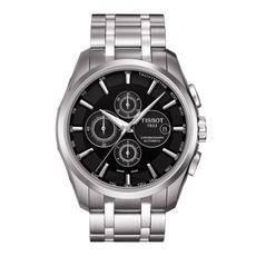 Tissot 天梭手表 库图系列黑盘机械男表T035.627.11.051.00