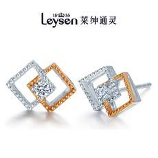 Leysen1855莱绅通灵王室珠宝 18K金钻石耳钉耳饰女 柏林之星(实物以证书为准)