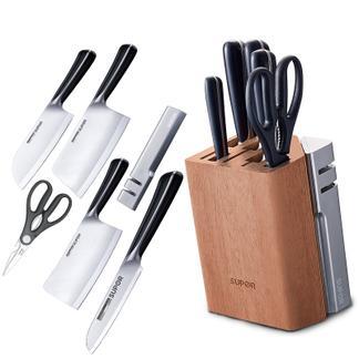苏泊尔不锈钢刀具七件套切片刀家用菜刀磨刀石多用水果刀TK1524Q