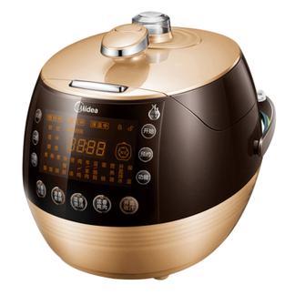 美的(Midea) 电压力锅一键排气电高压锅PSS5068P 玫瑰金色双胆5L气旋浓香电压力锅