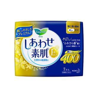 日本花王夜用卫生巾(40cm有护翼7片)X3包