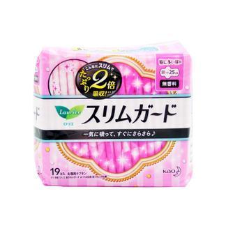 日本花王日用超薄卫生巾(25cm有护翼19片)X3包