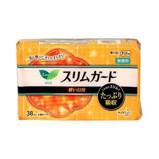日本花王日用超薄卫生巾(量少日用无护翼38片)X3包