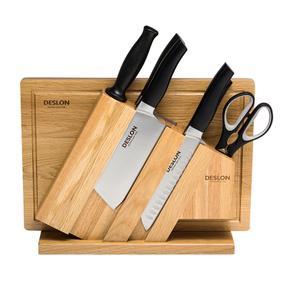 德世朗威斯特八件套刀(型号:FS-TZ006-8;刀身材质:3CR13不锈钢(食品接触用))