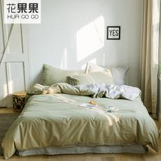 花果果BXS系列 初春纯色全棉刺绣四件套