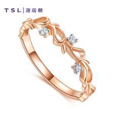 TSL/谢瑞麟18K金钻石戒指P9626