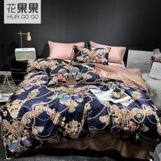 花果果QX系列 臻品印花四件套 高端床品 全棉家纺