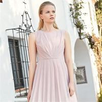 Vero Moda2019夏季新款度假风压褶中长款A摆连衣裙|31927A578
