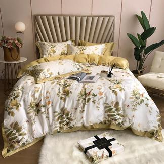米卡多60支天丝四件套冰丝顺滑裸睡双面夏季简约床单被套床上用品