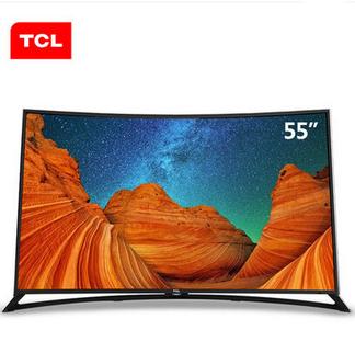 TCL L55H9600A-CUD 曲面4K 爱奇艺资源 安卓智能LED液晶电视