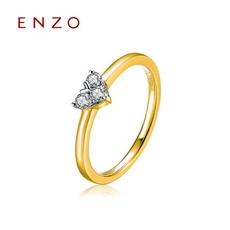ENZO   K金心形鉆戒群鑲女戒排戒天然鉆石戒指