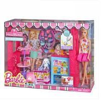 BARBIE/芭比娃娃马里布商店礼盒套装BDF49女孩礼物玩具