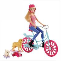 芭比娃娃BARBIE芭比狗狗骑行套装CLD94 女孩生日礼物