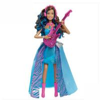芭比娃娃 芭比娃娃BARBIE摇滚公主之芭比朋友CMT16 芭比公主女孩玩具