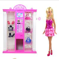 芭比娃娃礼盒套装 自动售货机芭比BMG81女孩玩具