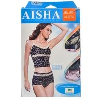 【超级生活馆】爱莎5A232竹纤维印花中高腰小平角裤XL1*2(编码:530789)