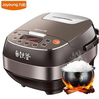 九阳(Joyoung)电饭煲 F-40T12 IH电磁加热 立体环绕加热 土灶铁釜 拉丝不锈钢 家用智能电饭锅