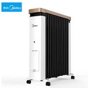 美的取暖器NY2212-18C 油汀家用智能加宽省电暖炉暖气片油丁办公室速热电暖器 儿童防烫设计