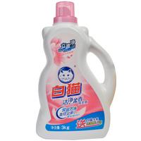 【天顺园店】白猫洁净柔香洗衣液3kg(编码:563834)