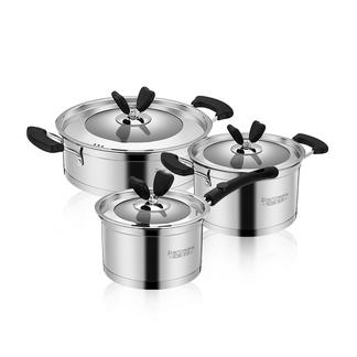 伯尔尼斯德厨套锅三件套 奶锅 汤锅 煎锅 电磁炉通用 BENS-89