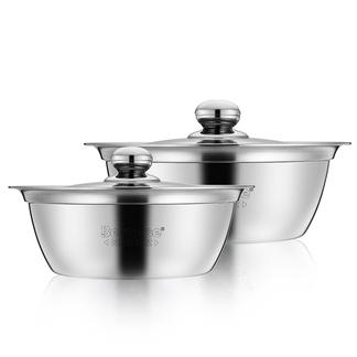 【美国】伯尔Bernese 铂金二件套 二件套不锈钢汤锅奶锅 两件套装电磁炉通用 BENS-224 20cm 24cm