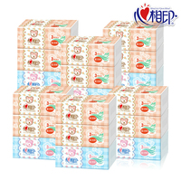 【包邮】心相印-婴儿抽纸6提18包2160抽3层柔韧宝宝专用无香防敏便携卫生纸巾