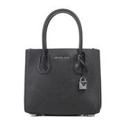 【香港直邮】 Michael Kors 迈克·科尔斯 女士黑色手提包 30F8SM9M2T-BLACK