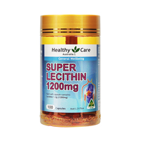 【澳洲直邮】Healthy care 卵磷脂1200mg 大豆卵磷脂鱼油伴侣 100粒