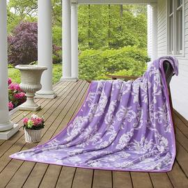 罗莱紫烟四季毯180*200(产品成分:超柔法兰绒(聚酯纤维);产品克重: 1000g)